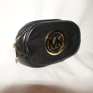 Michael Kors cosmetic case black leather